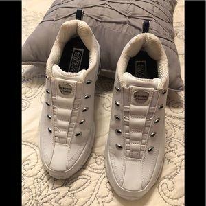 Skechers sport premium slip on  white sneakers